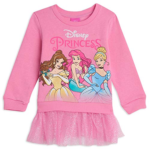 Disney Princess Cinderella Toddler Girls Ruffled Pullover Fleece Pink 4T