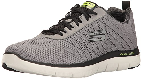 Skechers Herren Flex Advantage 2.0 - The Happs Outdoor Fitnessschuhe, Grau (Light Grey/black), 44 EU