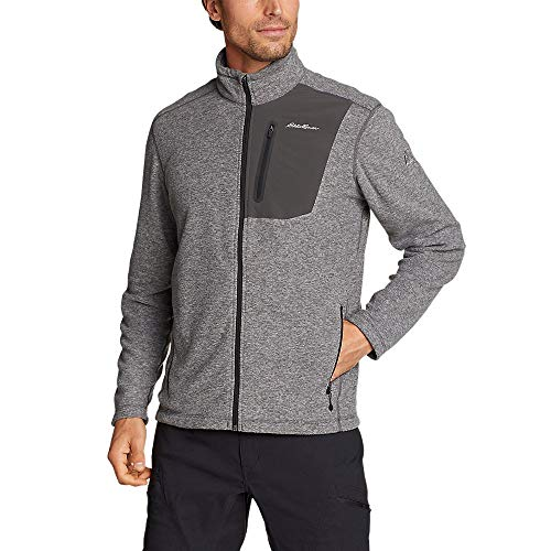 Eddie Bauer Men's Cloud Layer Pro Full-Zip Jacket, HTR Gray Regular L
