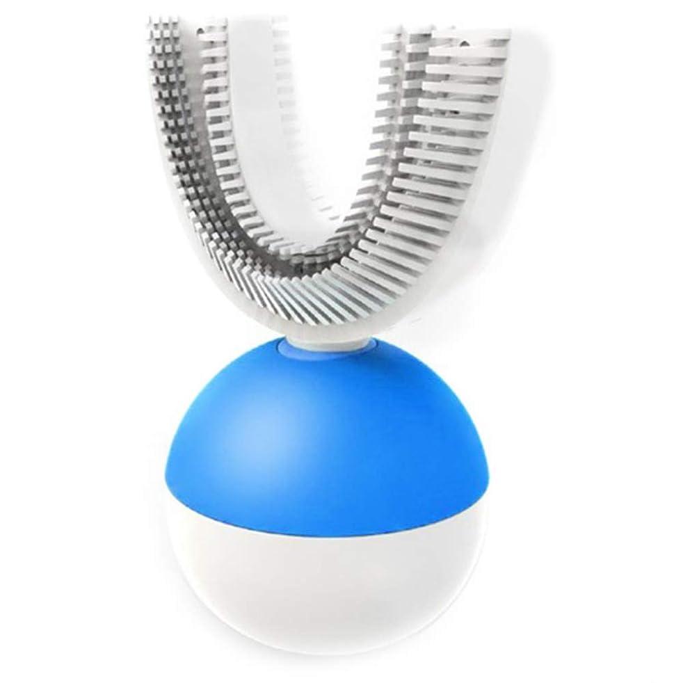 ブッシュ輸血びんインテリジェント電波電動歯ブラシ大人の怠laなU字型ブレース型ワイヤレス歯ブラシ電動歯ブラシ