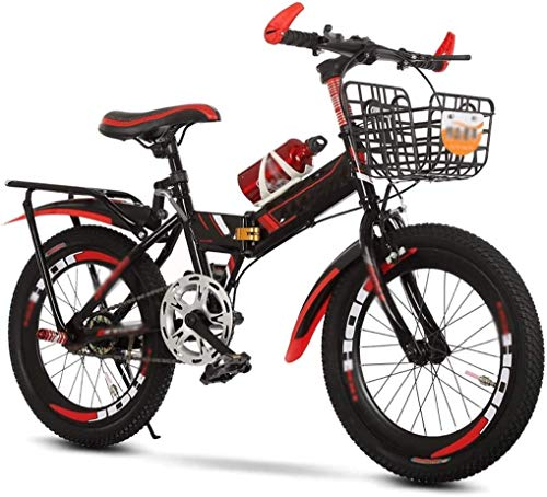 Lightweight Kids Bike Road Bikes Folding Children's Bicycles, Kids Hardtail Mountain Bike for Boys, Stone Mountain 20 inch Speed,Red (Size : 20in)