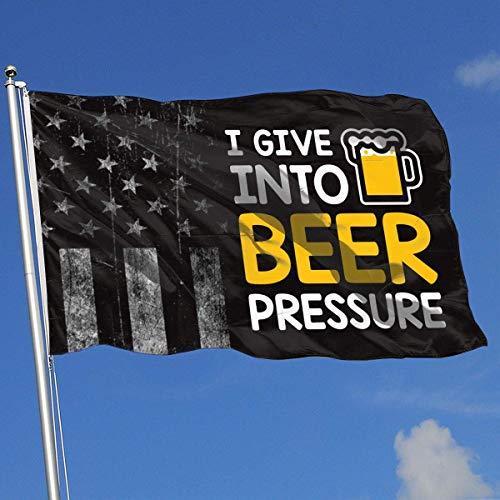 AOTADer Outdoor-Flaggen Ich gebe Bier Druck Bier Trinken Flagge für Sportfan Fußball Basketball Baseball Hockey
