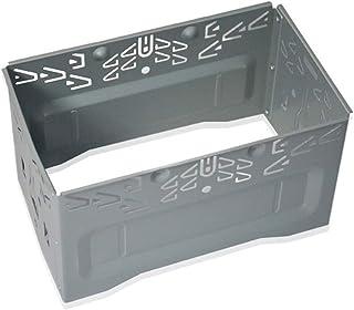 Universal Doppel DIN Einbauschacht Metall Autoradio Einbaurahmen 2DIN Universal Autoradio Adapter In Dash Einbaurahmen Komplettes Montagekit (Silber)