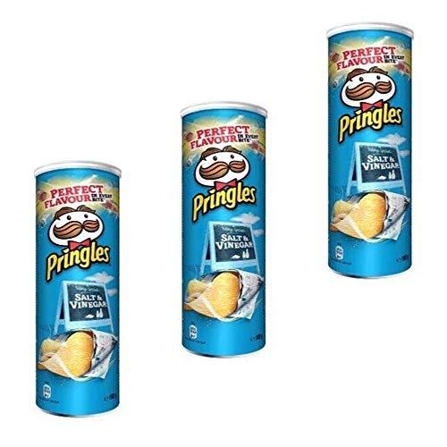 3x Pringles Salt & Vinegar Patatine Salz & Essig 160g Kartoffel chips