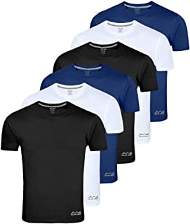 AWG Men's Light Weight Dryfit Polyester Sports Round Neck t-Shirts - Pack of 6