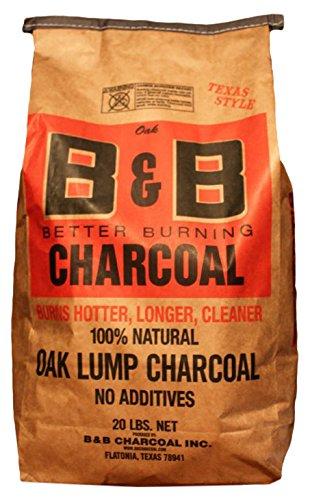 B&B Charcoal Oak Lump Charcoal - 20 LBS