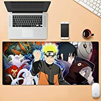 アニメナルトマウスパッドナルトサスケカカシキーボードパッドコンピュータゲーム滑り止めベース-Naruto34||800x300mm