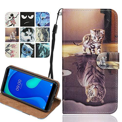 Langlee Kompatibel mit Ulefone Note 8P Hülle, PU Ledercase Flip Schutzhülle Tasche Magnetverschluss Handyhülle Standfunktion (Muster B-6)