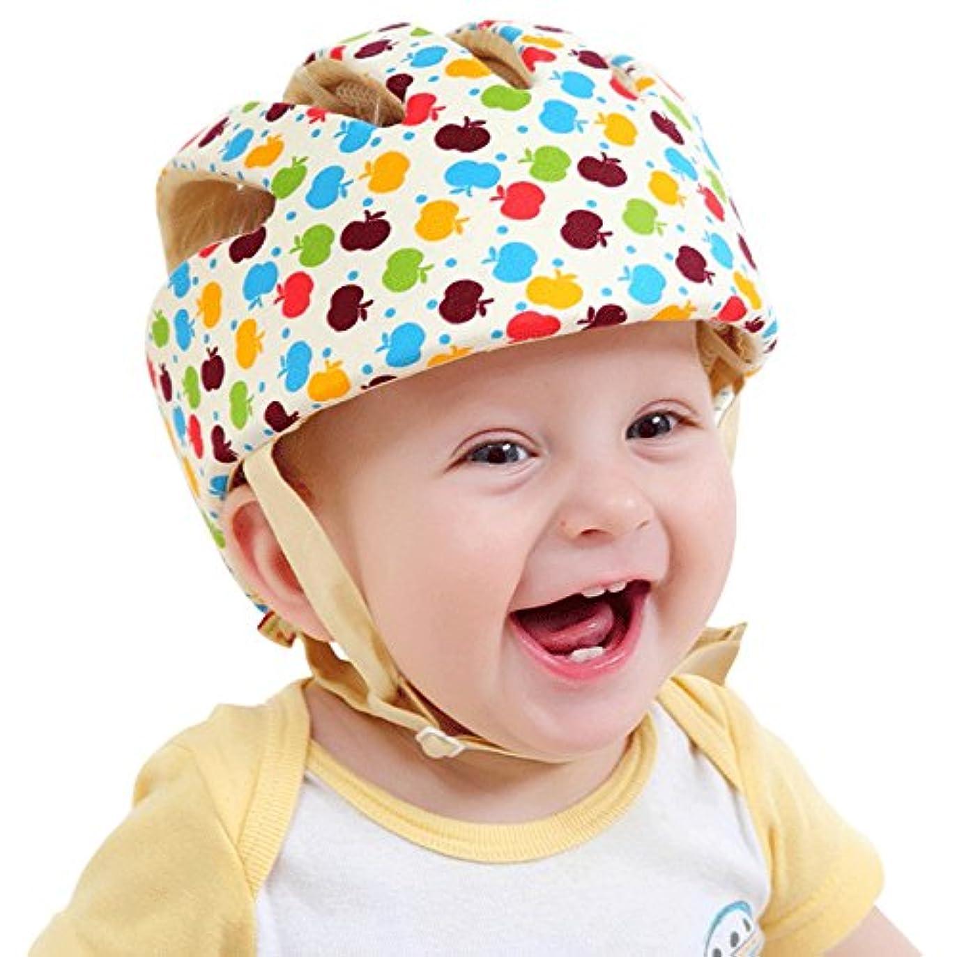 雑種適合する前進SONGZHILONGベビー?幼児 用 可愛い 洗える スポンジ ヘルメット 綿100% (カラフル)