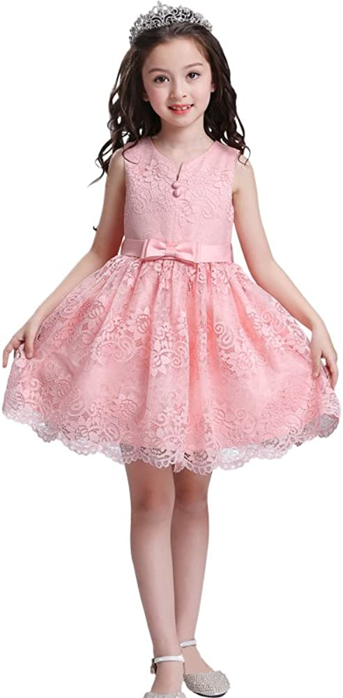 Dressy Daisy Girls Wedding Flower Girl Dress Floral Lace Special Occasion Pageant Dresses Size 4-8