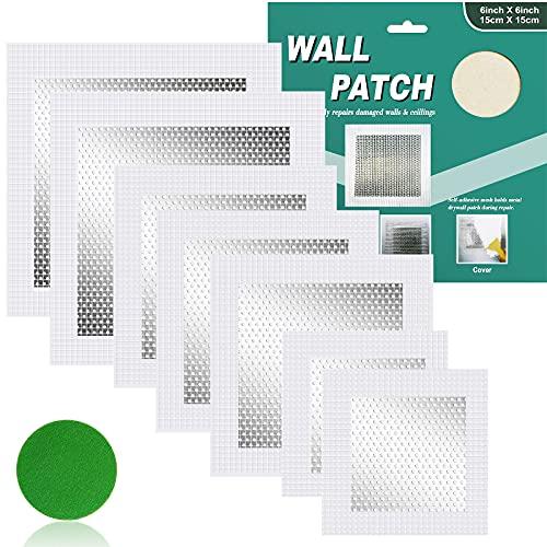 (7Pack) Drywall Repair Kit,2/4/6Inch Wall Hole Repair Kit, Wall Patch Repair,Self-Adhesive Wall Repair Patch,Dry Wall Patch Kits for Patch Wall Repair, Plaster Wall Repair