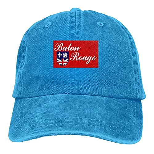 Flagge von Baton Rouge Casquette Hut Verstellbarer Unisex Baseball Cap Trucker Fashion Hut für Erwachsene
