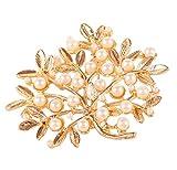 Touchstone Broche indio Bollywood hecho a mano fino intrincado de solapa pin de joyería de diseño en tono plateado dorado para mujer., Diamante de imitación,