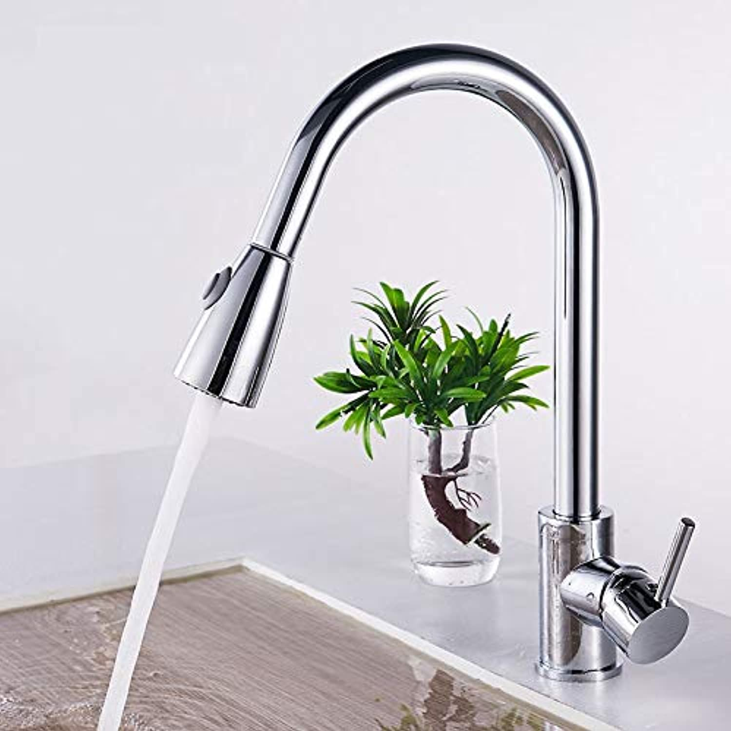Kitchen Pull Faucet Can redate Hot and Cold Sink Sink Universal Household Stainless Steel Washbasin