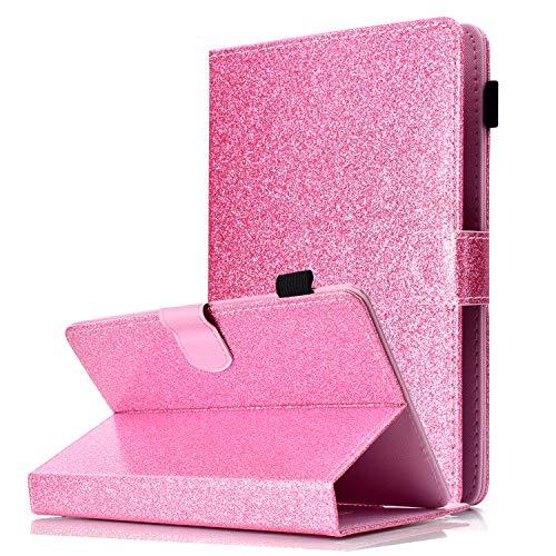"HereMore Funda Universal 8"" Tableta, Carcasa Cubierta de Protección para iPad Mini, Samsung Galaxy Tab A 8/Tab S2 8.0/Tab E 8.0, Fire HD 8, Huawei MediaPad T3 8, Lenovo Tab3 8/Tab A8-50, Rosa"