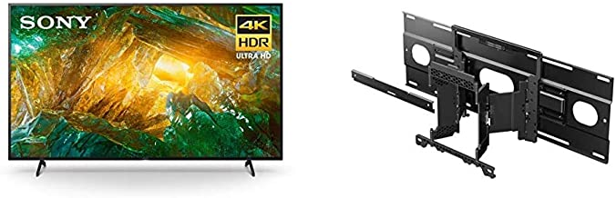 Sony X800H 55 Inch TV: 4K Ultra HD Smart LED TV with HDR and Alexa Compatibility - 2020 Model and Ultra Slim Wall-Mount Br...
