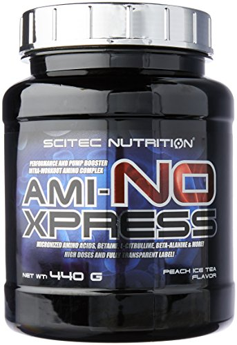 Scitec Nutrition Ami-NO Xpress Intra-Workout Performance Booster Powder - 440g, Peach Ice Tea