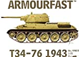 Armourfast 1/72 Russian T34-76 1943 Model Kit - Contains 2 Tanks