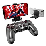PS4 Controller Phone Remote Play Mount, OIVO PS4 Controller Clip Clamp Mount Holder with Adjustable Stand for Playstation 4 Controller