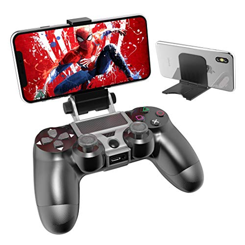 OIVO PS4 Controller Phone Remote Play Mount, PS4 Controller Clip Clamp Mount Holder with Adjustable Stand for Playstation 4 Controller