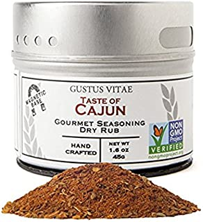 Taste of Cajun - Artisan Seasoning - Non GMO - Gourmet Spice Blend - Magnetic Tin - Crafted in Small Batches - Hand Packed