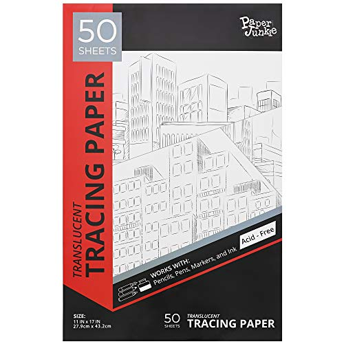 Tracing Paper, Art Drawing Pad (White, 11 x 17 in, 50 Sheets)