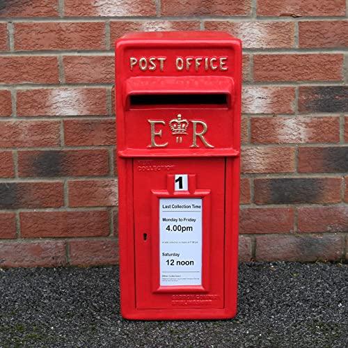 Briefkasten im englischen Stil Postkasten rot Wandbriefkasten Standbriefkasten Post Box Gusseisen