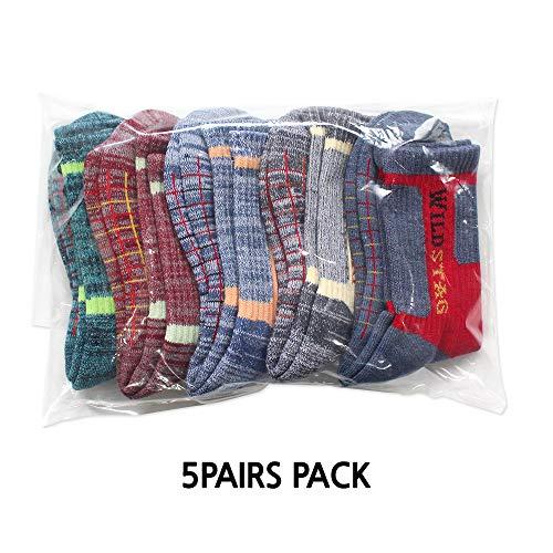 WILD STAG For Women Random Color, 5 pairs pack Cushion Outdoor Hiking Walking Trekking Socks