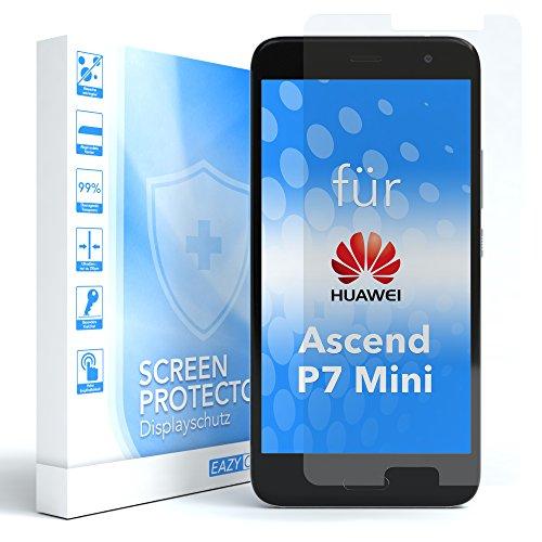 EAZY CASE 1x Panzerglas Bildschirmschutz 9H Festigkeit kompatibel mit Huawei Ascend P7 Mini, nur 0,3 mm dick I Schutzglas aus gehärteter 2,5D Panzerglasfolie, Bildschirmschutzglas, Transparent/Kristallklar