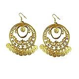 Widmann 10024 – Boucles d'oreilles dorées avec pièces de monnaie orientales, bijoux...