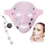 Máscara Facial Electrónica, EMS Mascarilla Masajeador Facial 3D Masaje Vibración Magnética Mascarilla Facial SPA, para el Rejuvenecimiento Piel Reducir Los Poros Mejorar Piel Grasa
