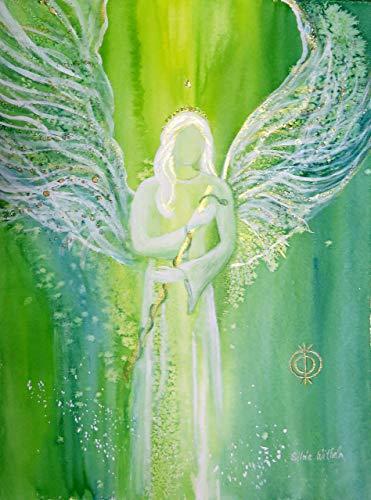 Atelier silwi-art Erzengel Raphael Raffael Engelbild Engelkarte xl/Poster/Kunstfoto limitiert archangel