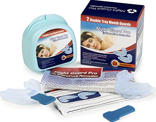 2 x Férula Dental Placa, Protector Dental | Bruxismo automoldeable y Dispositivo para dejar de roncar | Anti Bruxismo Rechinar los dientes | Aparatos para el bruxismo, DCM, ATM y dolor de mandíbula