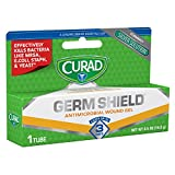 Curad Germ Shield antimicrobial gel for minor cuts, scrapes & burns Unlike triple antibiotic ointment, Curad Germ Shield gel contains microscopic silver antimicrobial to effectively kill bacteria like MRSA, E.Coli & Staph; plus yeast and fungus This ...