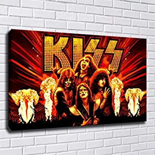 lihuaiart Band Kiss Poster Wall Art Home Wall Decorations for Bedroom Living Room Oil Paintings Canvas Prints 24x36inch-222 (Unframed)
