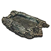 The Rock bowl is a low shallow bowl that is great for providing your pet with food or water Ideal for tortoises, skinks and other short legged species Great for enhancing your reptile, amphibian or small animals habitat, with steps at the entrance to...
