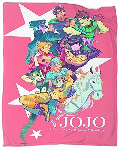Coperta decorativa extra morbida JoJo's Bizarre Adventure Anime per il letto divano letto leggero copriletto dimensioni 101,6 x 127 cm