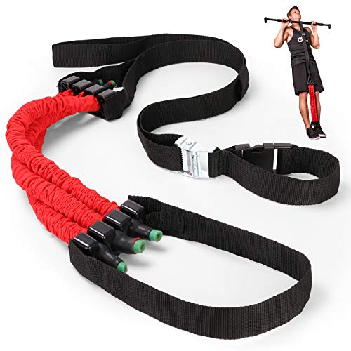 Odoland Pull Up Assist Band, Chin-Up Resistance Bands,Premium Powerlifting Assist Band System to Improve Arm, Shoulders and Chest Strength
