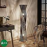 Lampenwelt Stehlampe 'Kassia' u.a. für Wohnzimmer & Esszimmer (2 flammig, E27, A++) - Holz Stehleuchte, Floor Lamp, Standleuchte, Wohnzimmerlampe, Wohnzimmerlampe