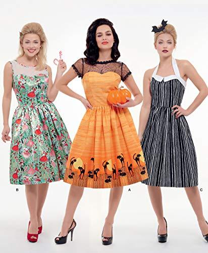 Simplicity S8979 Snijpatroon voor dames, klassiek Halloween-kostuum, papier, wit, verschillende kleuren