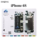 DHong Design Magnetic Project Mat for iPhone 6/6s Plus 5s / 5c / 5 / 4s / 4 Screw Mat Repair Guide Pad Screw Keeper Chart Map Professional Guide Pad Repair Tools (For iPhone 6s)