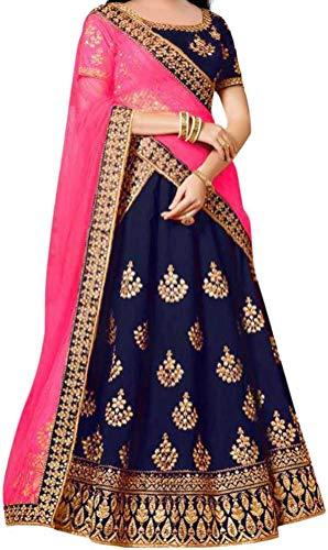 Ethnos Fashion girls taffeta silk smooth semi-stitched lehenga choli for girls 9-13 years - fancy fashionable beautiful trending designer wear embroidered ghagra cholis suit