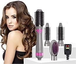 4 in 1 Hot Air Brush, Hair Dryer Brush & Styler Volumizer, Negative Ionic Electric Blow Dryer Brush Detachable Brush Kit with 4 Interchangeable Brush Head