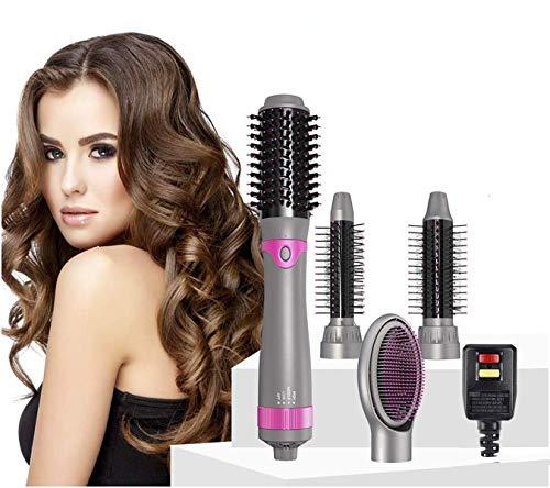 4 IN 1 Hot Air Brush Hair Dryer Brush amp Styler Volumizer Negative Ionic Electric Blow Dryer Brush Detachable Brush Kit with 4 Interchangeable Brush Head