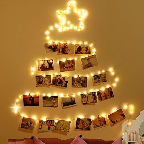 Uping 100LED Kupferdraht Lichterkette mit 8 Lichtmodi Dimmbar,11M USB Kupferdraht Lichterkette Ideale Weihnachtsbeleuchtung für Außen, Innen, Zimmer, Party, Deko Usw