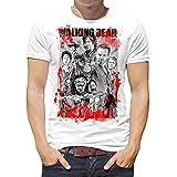 Camiseta Hombre Serie Televisión Walking Dead (Blanco, S)