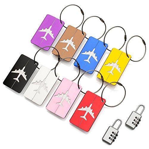 ATA® Travel Bag Etiquetas de Equipaje - (8 Pack) ID Etiquetas de dire