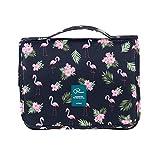 Bolsas de Aseo Cosméticos Neceser de Viaje Impermeable y Plegable Tuscall Maquillaje Organizador de Viaje Neceser con Gancho para Hombres y Mujeres (Flamingo - 1)