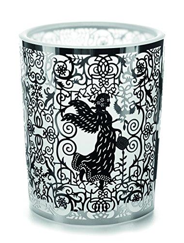 Portacandela in vetro votive argento Filigre Angel