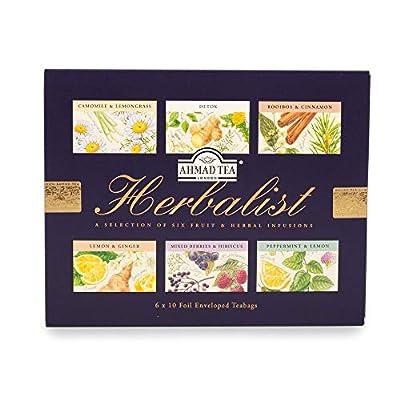 Ahmad Tea Herbalist Variety Gift Box, 60 Foil Enveloped Teabags by Ahmad Tea